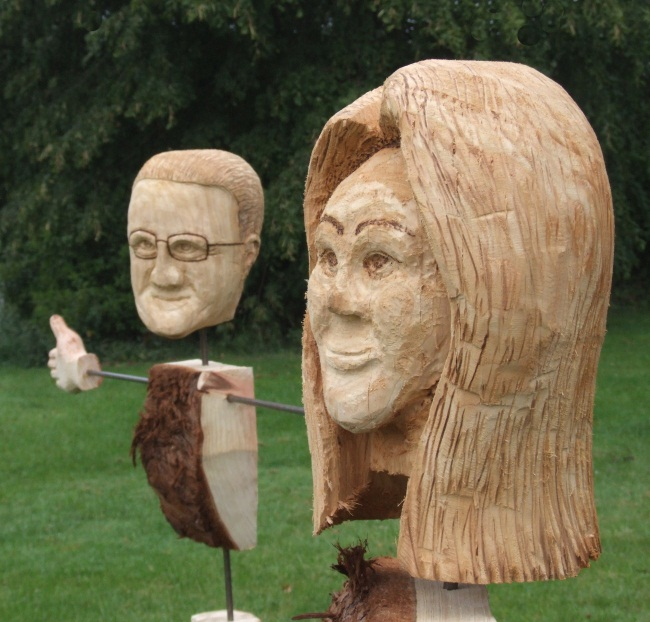 Garden Sculpture : Garden Sculpture - Other : Scarecrow (Personalised with Caricature Head)