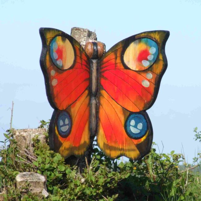 Schools/Playtime : School Playground Activity Equipment : Butterfly Playground / Garden Sculpture
