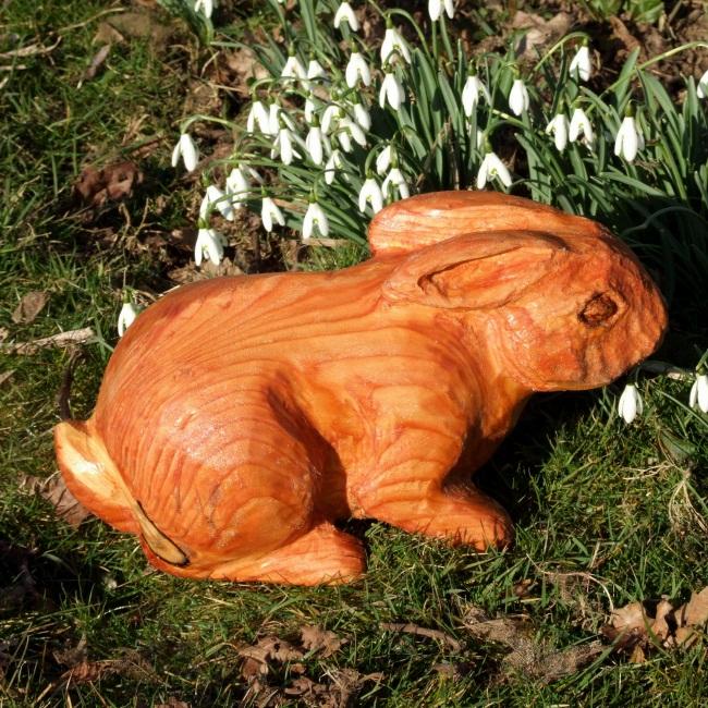 wooden rabbit garden sculpture garden sculpture buy