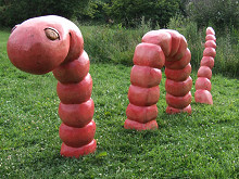 Worm Playground / Garden Sculpture