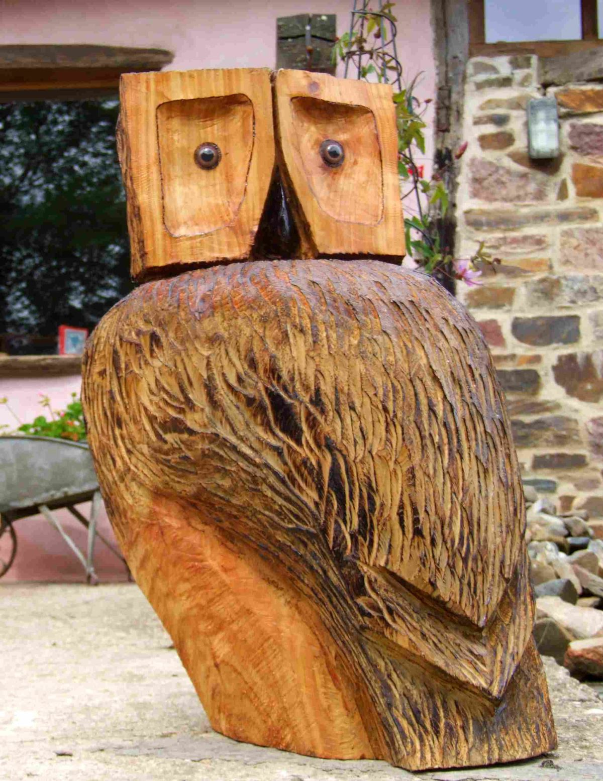 Garden Sculpture : Wooden Animals : Wooden Owl