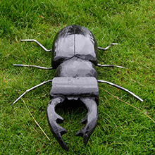 Stag Beetle Wooden Garden Sculpture