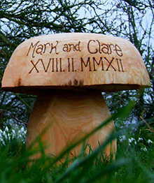 Wooden Mushroom Seats - Wedding Range Personalised Wedding Gift