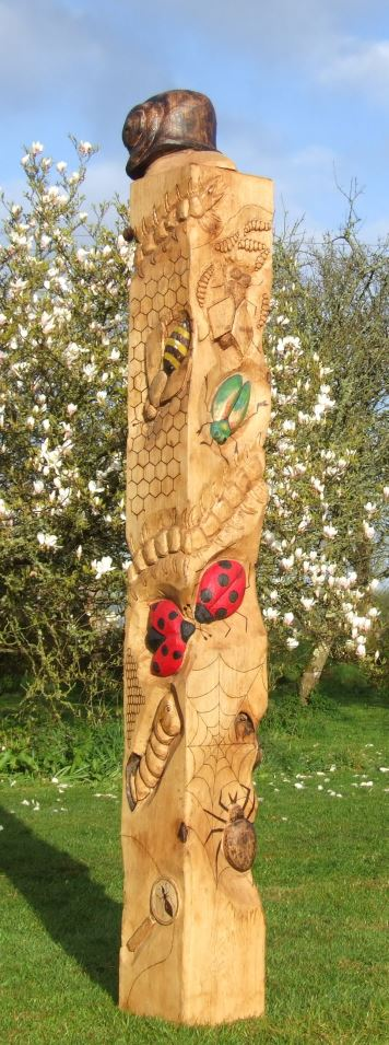 Schools/Playtime : Totems : Bug Totem in Oak