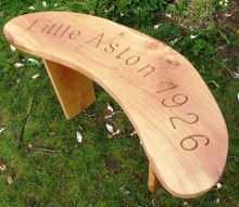 Curved Oak Memorial Bench - 4ft