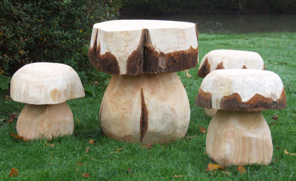 Mushroom Table and Seat Set - Medium