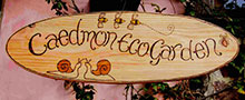 Oval Wooden Garden Sign - Bugs Design