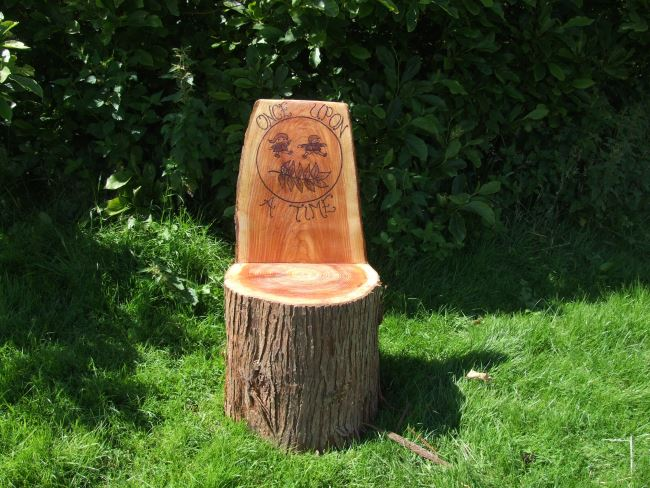 Schools/Playtime : Story Telling Chairs : Storytelling Log with School Logo