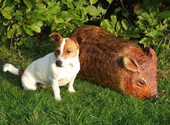 Wooden mouse childrens garden seat garden sculpture for Garden animals