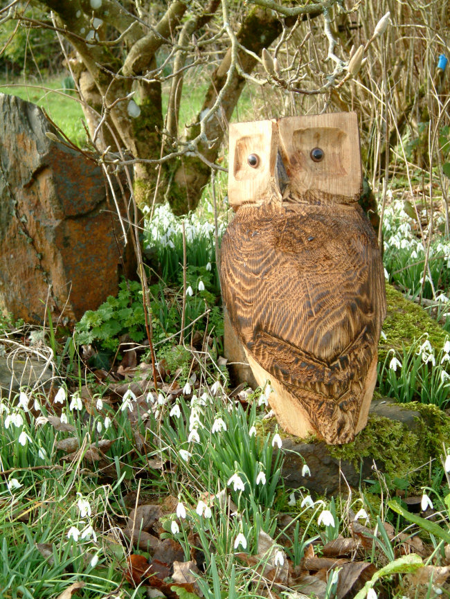 Wooden owl garden sculpture find wooden animals wooden for Garden animals