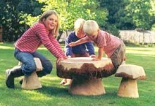 Garden Sculpture : Mushroom Seating : Children's Mushroom Table & Seat Set